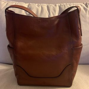 Frye Hobo Cognac Leather Bag